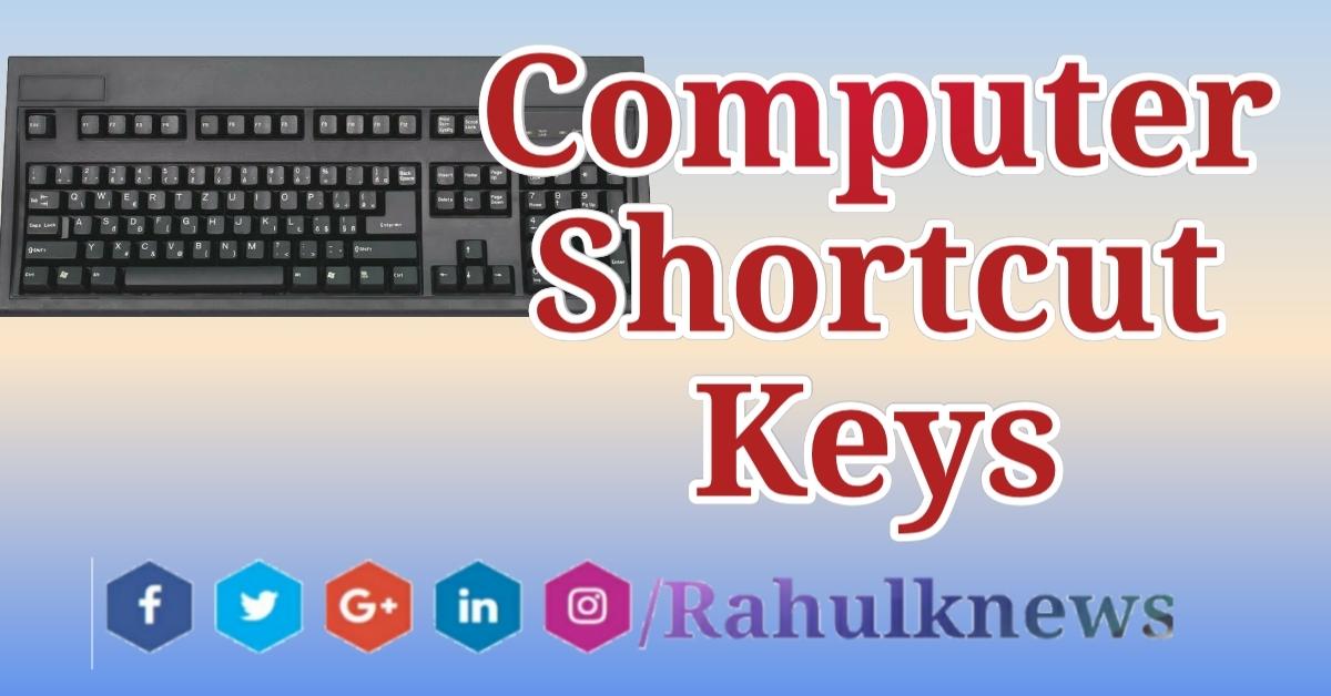 100 Shortcut Keys In Computer